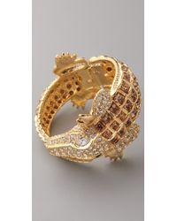 Kenneth Jay Lane Metallic Alligator Bracelet