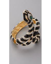 Kenneth Jay Lane Black Snake Bracelet