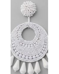Kenneth Jay Lane White Gypsy Earrings