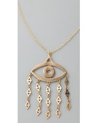 Low Luv by Erin Wasson | Metallic Evil Eye Pendant Necklace | Lyst