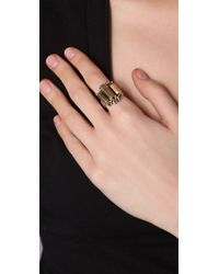 Low Luv by Erin Wasson | Metallic Metal Crystal Cocktail Ring | Lyst