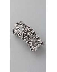 Low Luv by Erin Wasson | Metallic Bone Armor Ring | Lyst