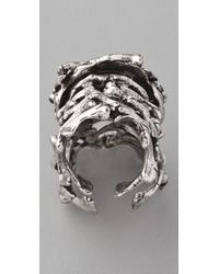 Low Luv by Erin Wasson Metallic Bone Armor Ring