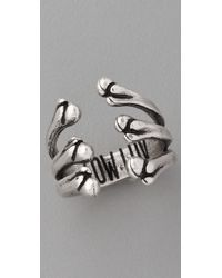 Low Luv by Erin Wasson - Metallic Bone Cage Ring - Lyst