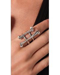 Low Luv by Erin Wasson - Metallic Double Bone Ring - Lyst
