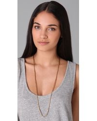 Madewell - Metallic Bugle Bead Single Strand Necklace - Lyst