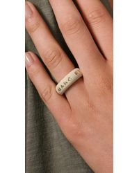 Marc By Marc Jacobs - Natural Logo Band Ring - Lyst