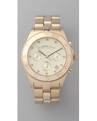 Marc By Marc Jacobs | Metallic Large Blade Chrono Watch | Lyst