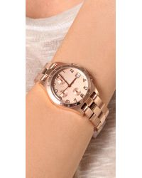 Marc By Marc Jacobs   Pink Henry Chronograph Watch   Lyst