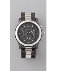 Michael Kors | Metallic Large Runway Time Teller Watch | Lyst