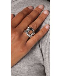Michael Kors - Metallic Chunky Chain Ring - Lyst
