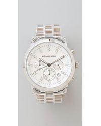 Michael Kors | Metallic Oversized Watch | Lyst