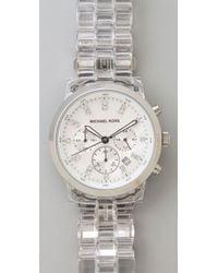 Michael Kors - Metallic Oversized Watch - Lyst