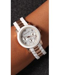 Michael Kors - White Runway Time Teller Watch - Lyst