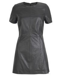 Muubaa | Black Latana Leather Mini Dress | Lyst