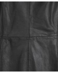 Muubaa - Black Latana Leather Mini Dress - Lyst