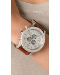 Nixon - Brown 51-30 Chrono Leather Watch - Lyst