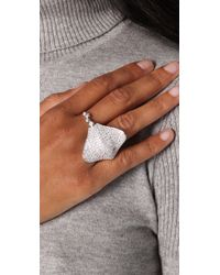 Noir Jewelry - Metallic Sting Ray Pave Ring - Lyst