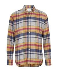 Our Legacy | Blue and Yellow Check Melange Shirt for Men | Lyst