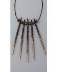 Pamela Love Metallic Porcupine Needle Necklace
