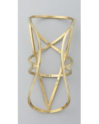 Pamela Love - Metallic Brass Pentagram Cuff - Lyst