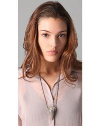 Pamela Love Metallic Quartz Crystal Spike Necklace