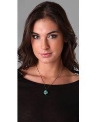 Pamela Love Blue Turquoise Howlite Skull Pendant Necklace