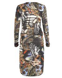 Paul Smith Black Label Black Layered Neck Butterfly Dress