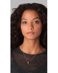 Rachel Leigh - Metallic Tryst Delicate Drop Necklace - Lyst