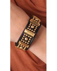 Rebecca Minkoff | Black Flower Stud Bracelet | Lyst