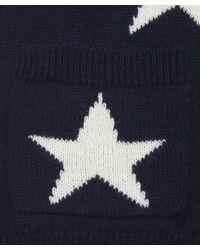 Sea Blue Navy Star Print Cardigan