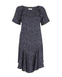 Sea | Blue Navy Star Print Silk Tea Dress | Lyst