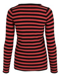 Sonia by Sonia Rykiel Pink Coral Striped Strawberry Jumper