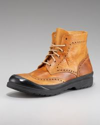 True Religion | Brown Oswald Wing-tip Boot for Men | Lyst