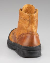 True Religion - Brown Oswald Wing-tip Boot for Men - Lyst