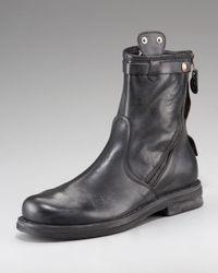 True Religion | Black Zora Diagonal-zip Boot for Men | Lyst