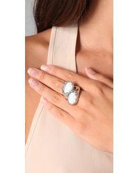 Tuleste - Metallic Melting Egg Ring - Lyst