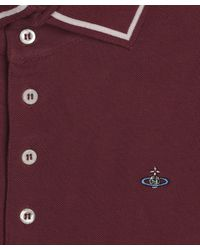 Vivienne Westwood | Red Burgundy High Collar Short Sleeve Polo Shirt for Men | Lyst