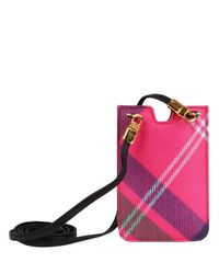 Vivienne Westwood Pink Derby Tartan Iphone Case