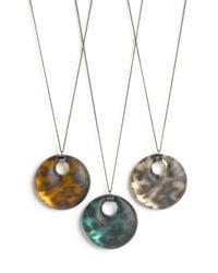 Alexis Bittar | Brown Leopard Disc Pendant Necklace (nordstrom Exclusive) | Lyst