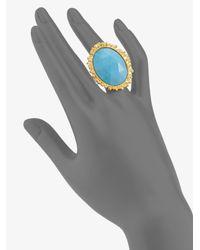 Alexis Bittar   Metallic Turquoise Ring   Lyst