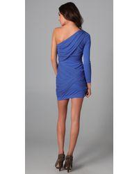 Alice + Olivia | Blue One Shoulder Goddess Dress | Lyst
