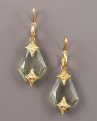 Armenta | Metallic Green Amethyst Drop Earrings | Lyst