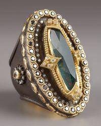Armenta - Metallic Heraldica Oval Bloodstone Ring - Lyst
