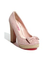 Betsey Johnson | Pink Maggi Pump | Lyst