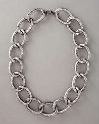 Devon Leigh | Gray Gunmetal Link Necklace | Lyst