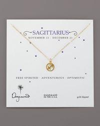 Dogeared | Metallic Sagittarius Zodiac Necklace | Lyst