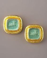 Elizabeth Locke - Green Venetian Glass Earrings - Lyst