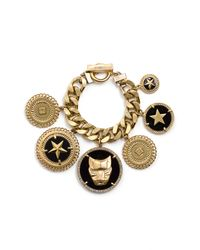 Givenchy | Metallic Gold-tone Colored Crystal Bracelet | Lyst