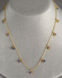 Gurhan - Metallic Sapphire Dew Necklace - Lyst